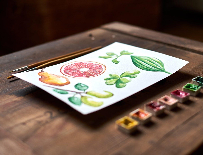 Akvarellmålning